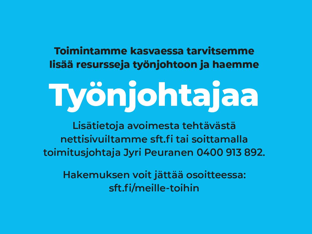 SFT Finntekniikka Oy työnjohtaja